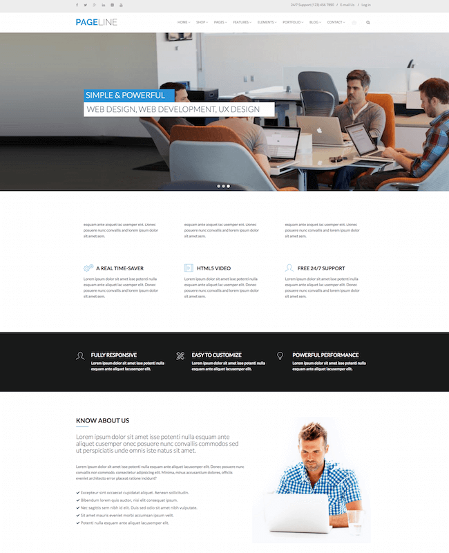 PageLine Drupal Theme