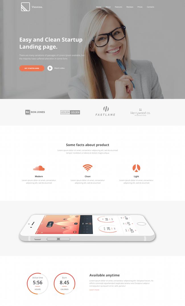 Vanessa - Drupal 8 - Easy Startup App Landing Page Theme