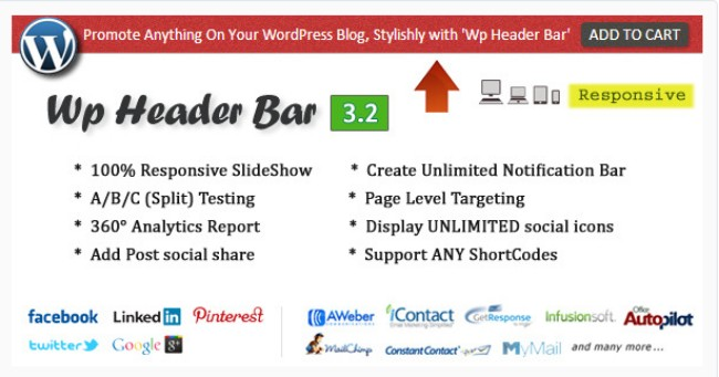 WP header bar
