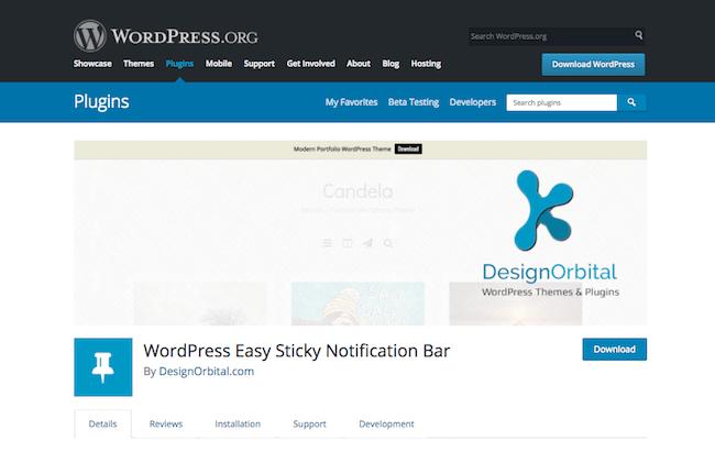 Sticky Notification Bar