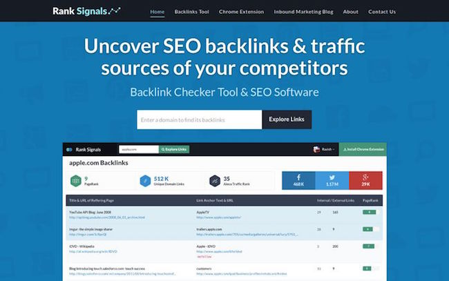 ranksignals backlink checker