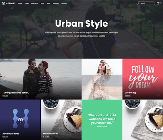 Affinity Lifestyle Blog Design