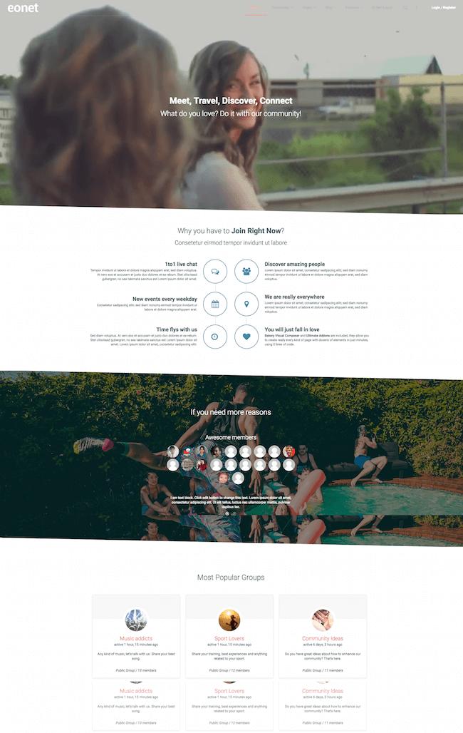 Eonet-BuddyPress-Theme