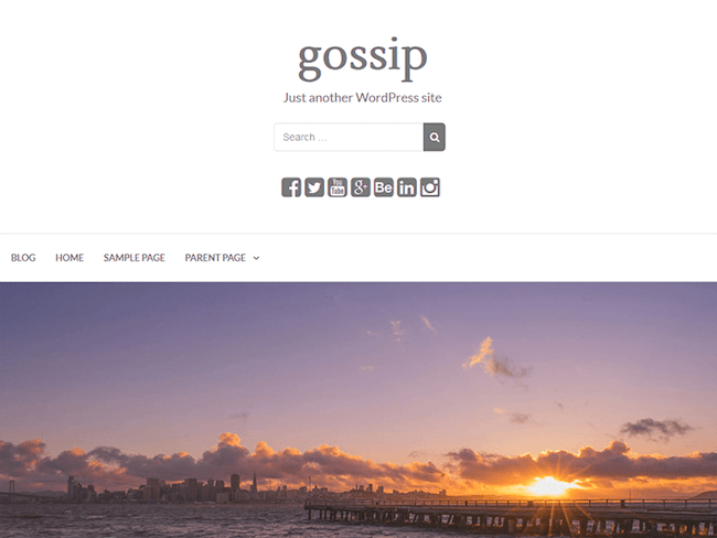 Gossip Free Theme