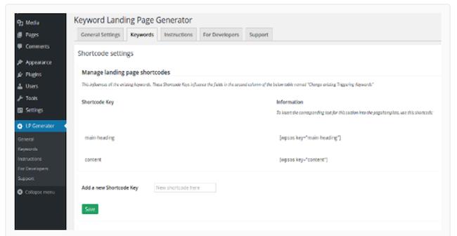 Keyword Landing Page Generator
