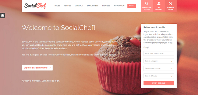 SocialChef WordPress Theme