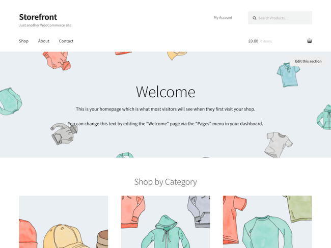 Storefront Free WordPress Theme