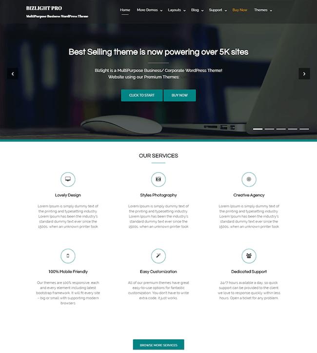 bizlight-free-WordPress-themes