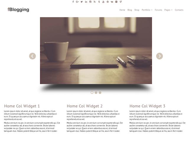 fBlogging Free WordPress Theme