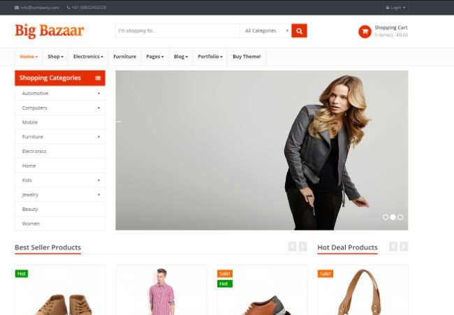 bigbazaar amazon store theme