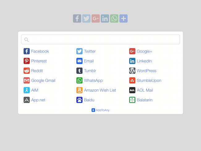 AddToAny Social Sharing Plugin