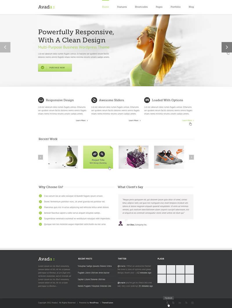 Avada multipurpose theme