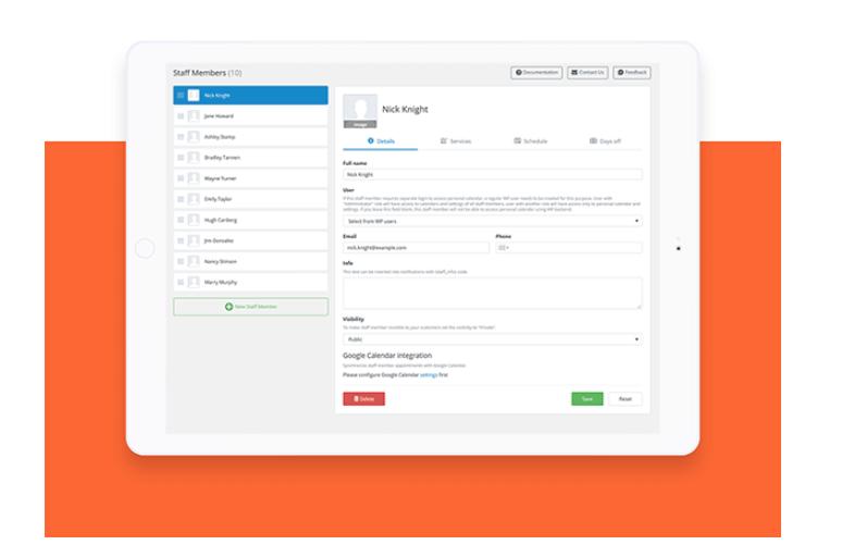 Bookly WordPress Booking Plugin