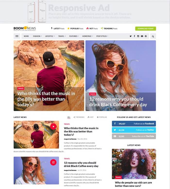 BoomNews WordPress Theme