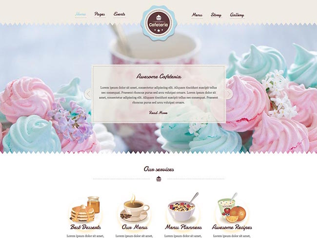 Cafeteria_Responsive_WordPress_Theme