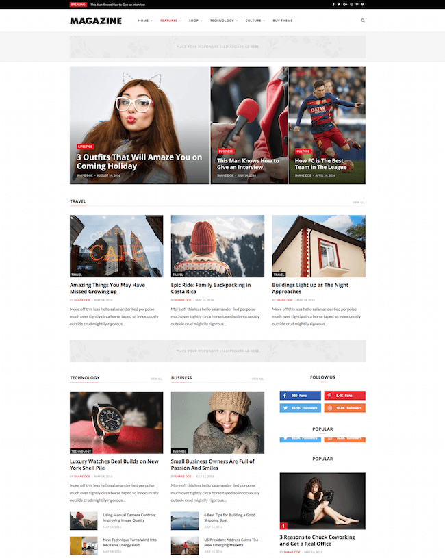 CheerUp Blog WordPress Blog Theme