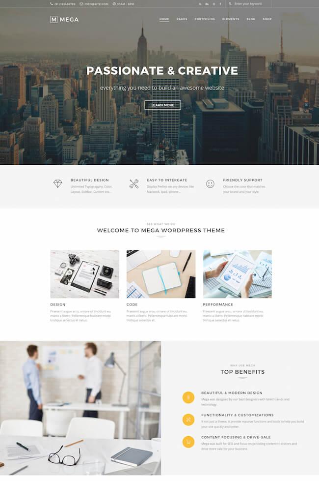 Mega WordPress Theme