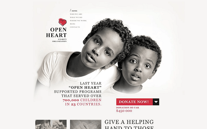 Open-Heart-charity-theme
