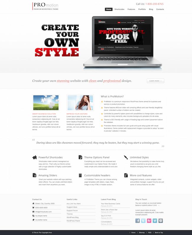 ProMotion Responsive WordPress Theme