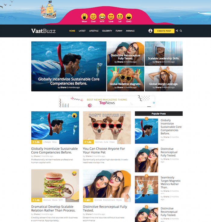 Vast Buzz Viral WordPress Theme