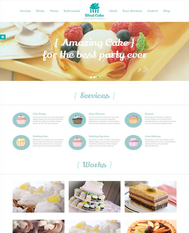 WindCake-OnePage-Unique-Restaurant-Wordpress-Theme