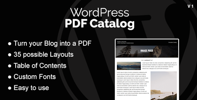 WordPress PDF Catalog