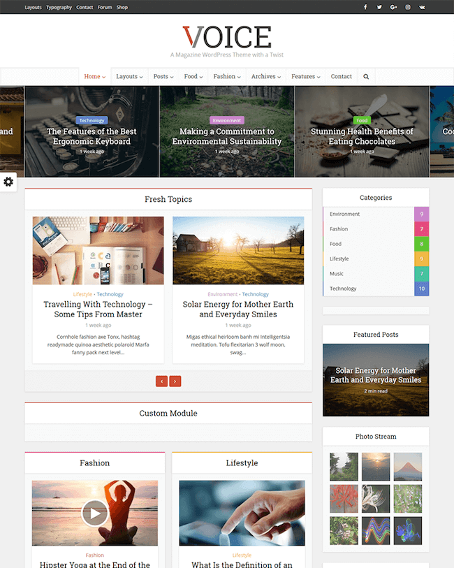 voice magazine affiliate themes