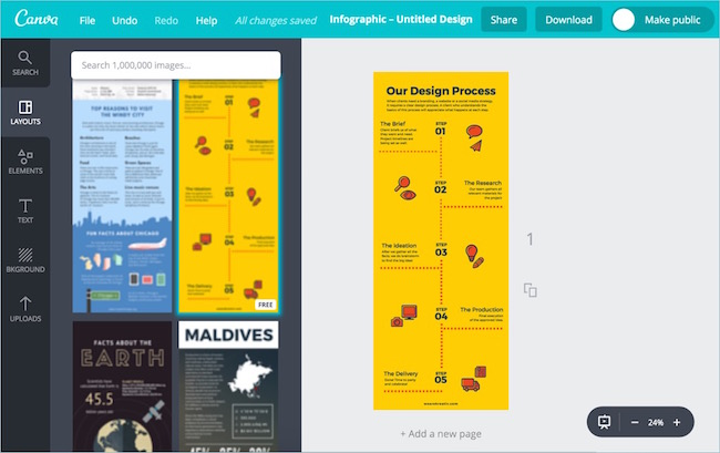 Canva Online Infographic Editor