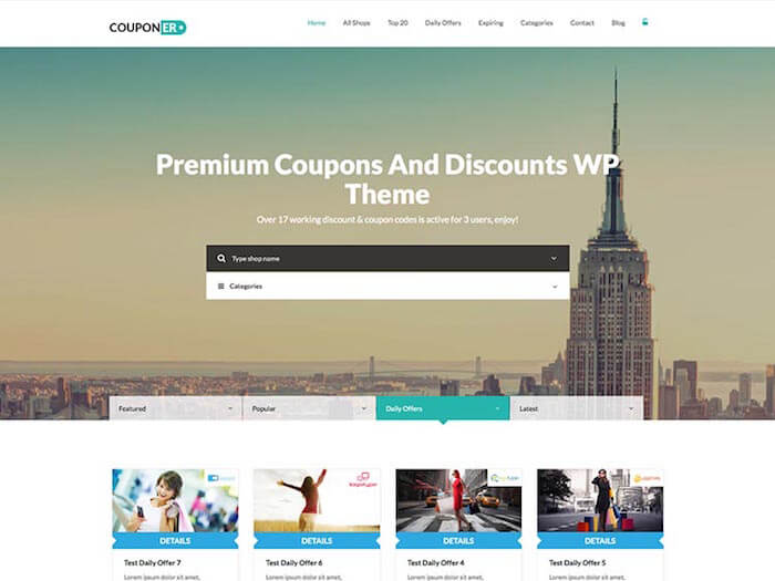 Couponer daily deal theme