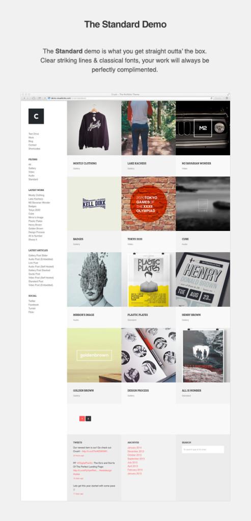 CRUSH Portfolio WordPress Theme