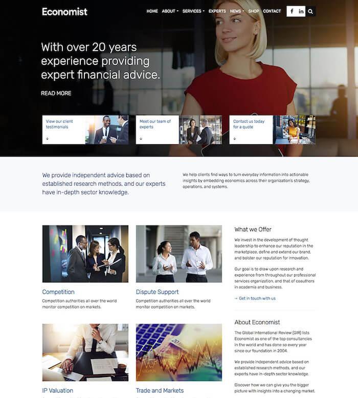 Economist Finance WordPress Theme