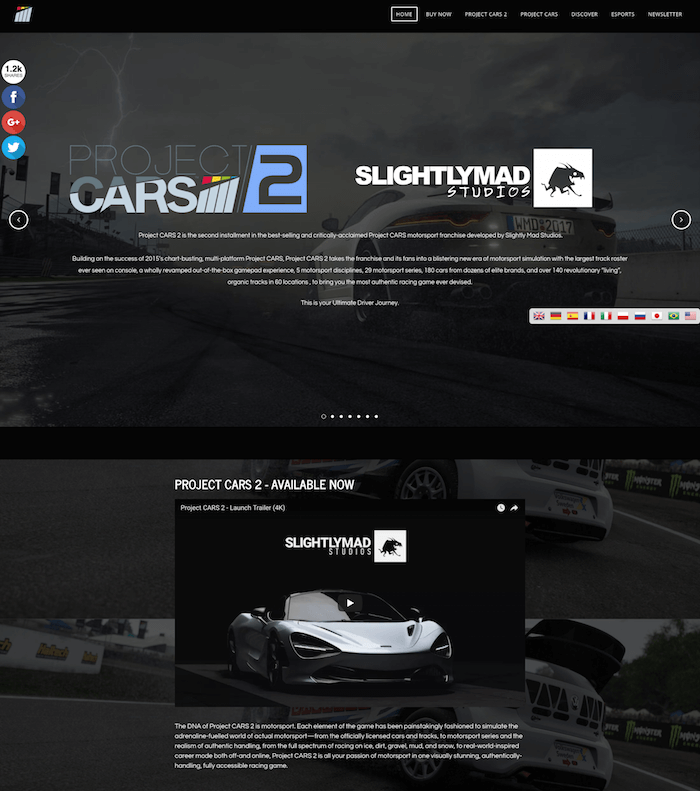 ProjectCars Weebly Site