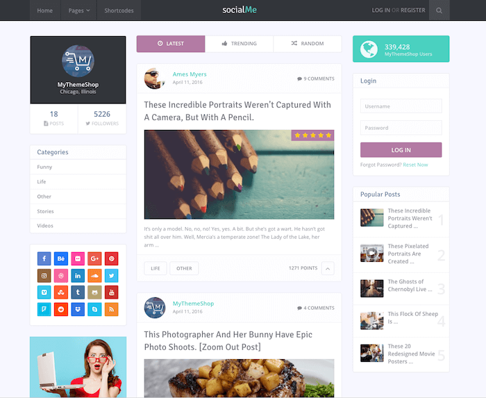 SocialMe Theme MyThemeShop