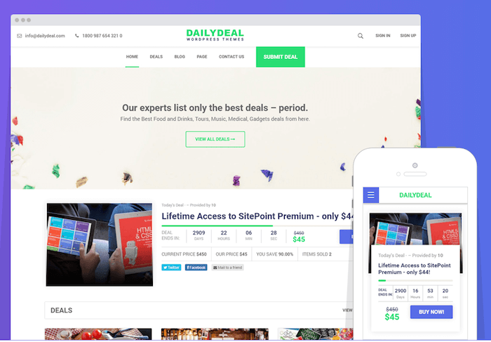 25 Best Daily Deal Groupon Clone WordPress Themes 2018