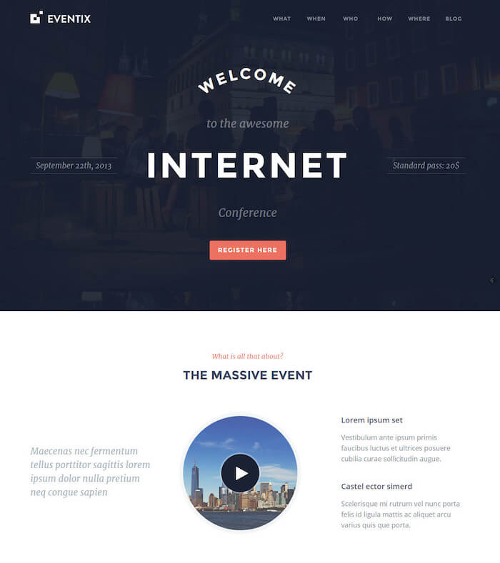 eventix-wordpress-landing-page-theme
