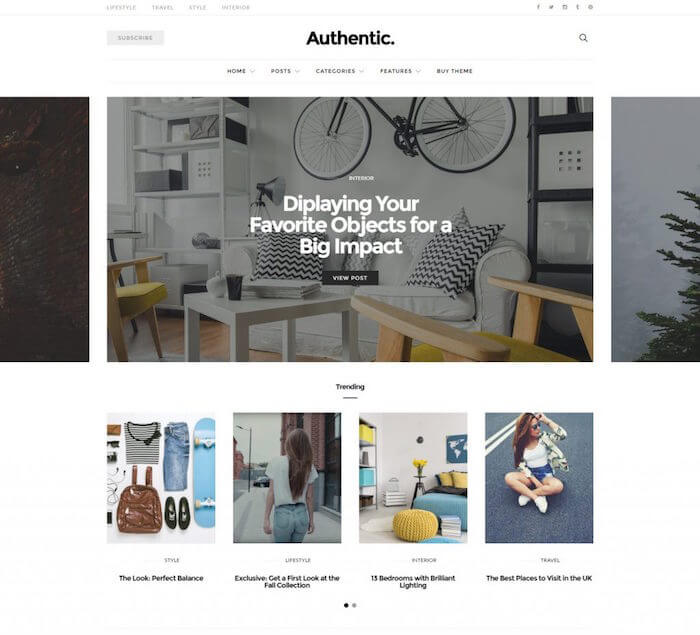 Authentic Lifestyle Blog WordPress Theme