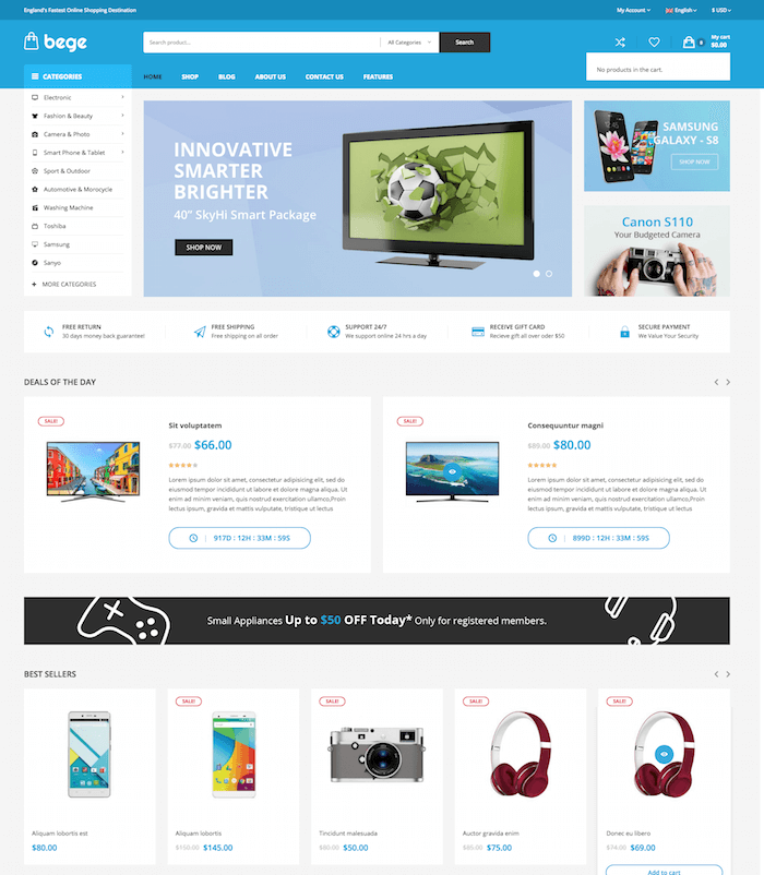 Bege Daily Deal Theme