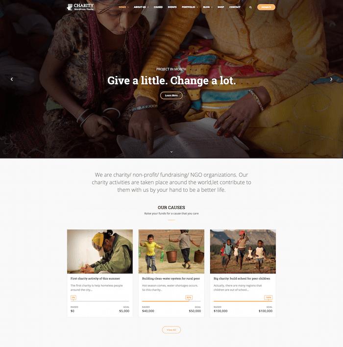 Charity WP WordPress Theme