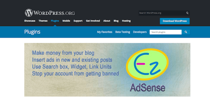 Easy Plugin for AdSense