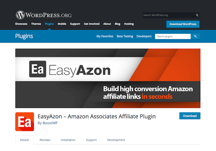 EasyAzon Amazon Associates Affiliate Plugin