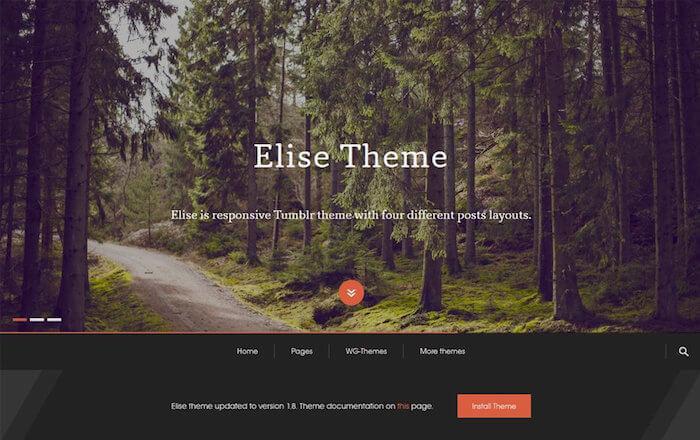 Elise Free Tumblr Theme
