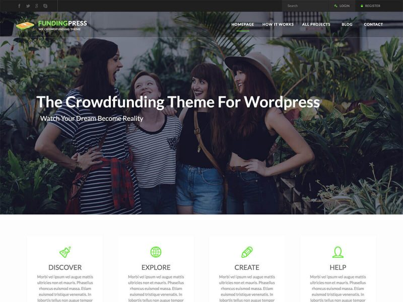 Funding Press Theme