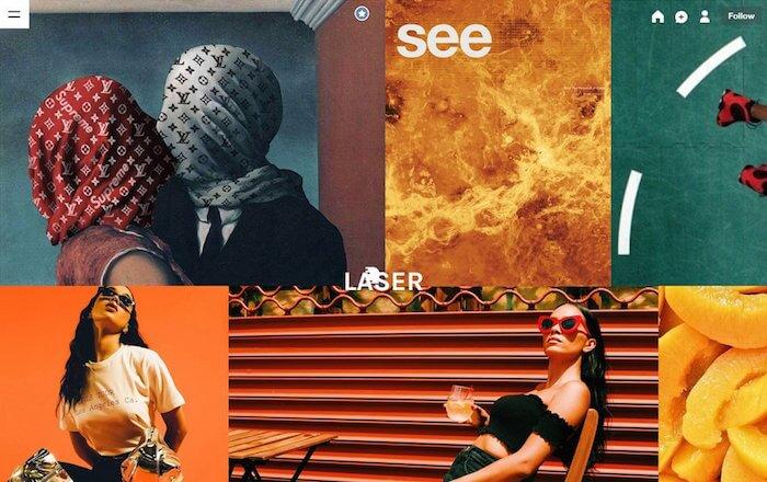 Laser free tumblr theme