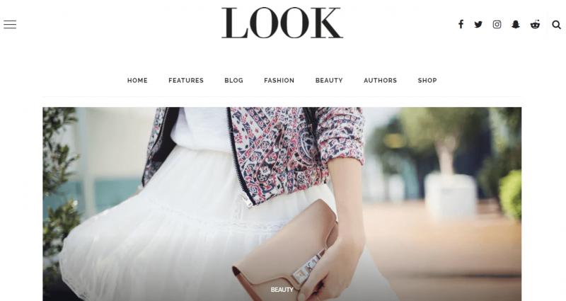 Look Fashion Magazine Theme