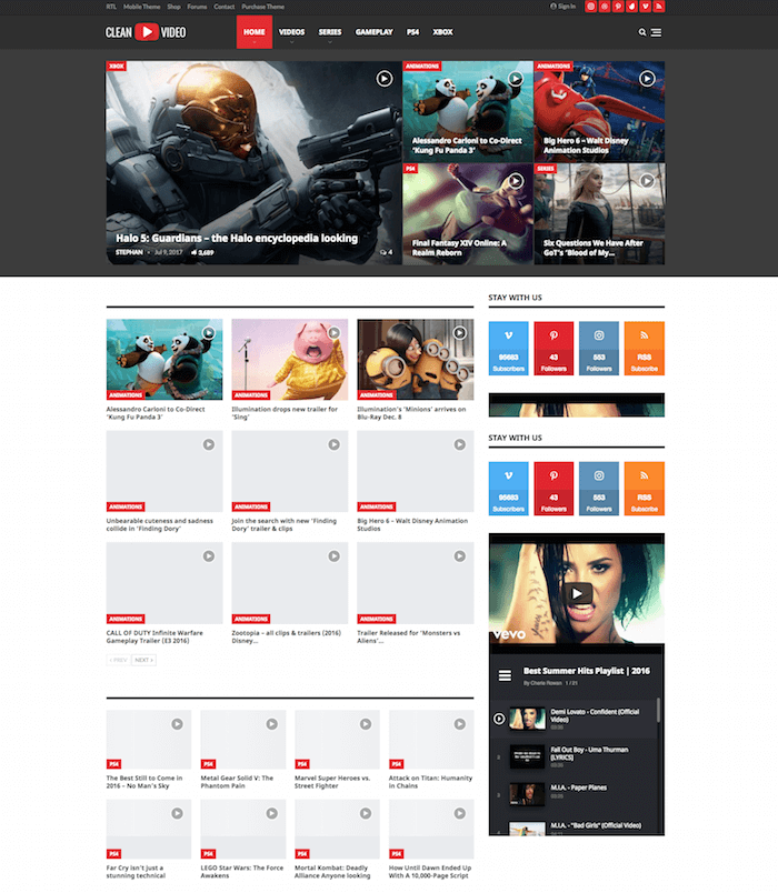 Publisher Theme for Video