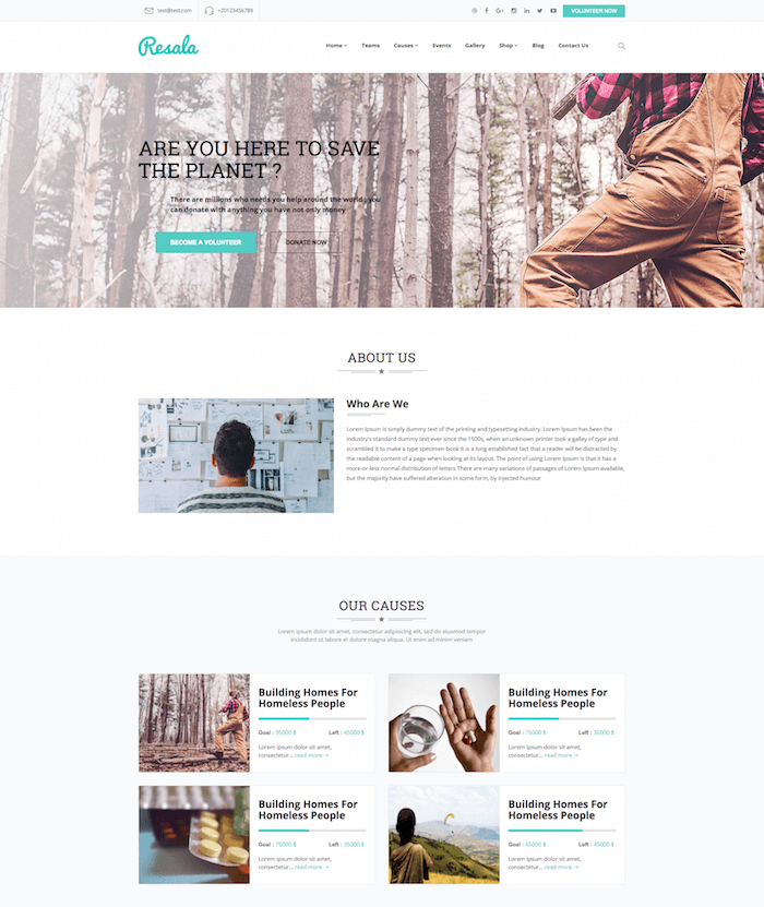 Resala Crowdfunding WordPress theme