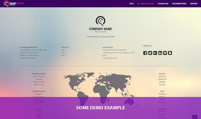 Smart Footer System WordPress