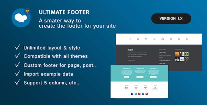 Ultimate Footer Builder