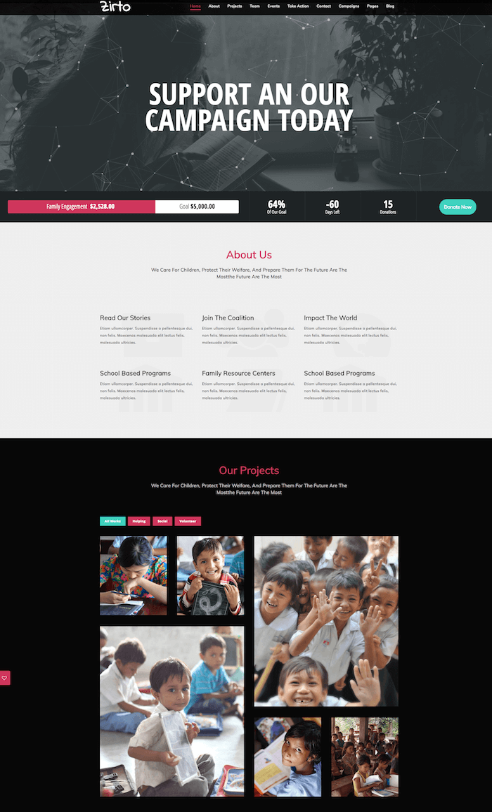 Zirto Multipurpose Nonprofit Theme