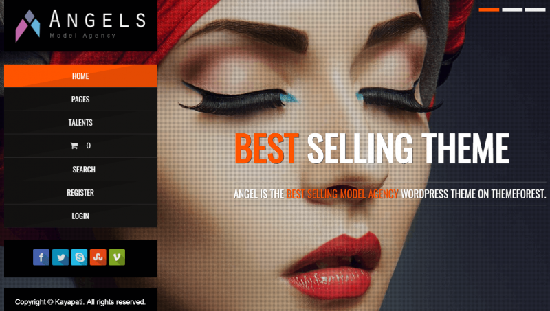 Angel Modeling WordPress theme